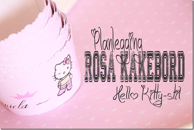 rosa dessertbord hello kitty