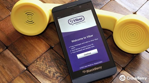 Viber prepara su llegada a BlackBerry 10