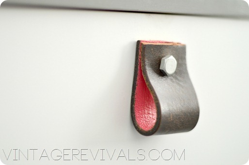 Leather Belt Dresser Pulls