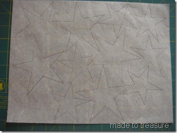 trace on the paper side of fusible web