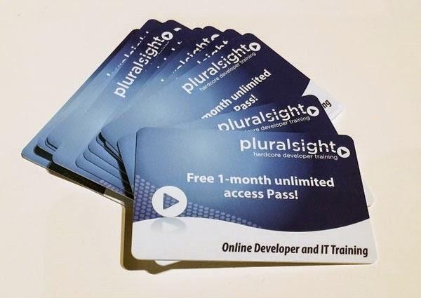 Free Pluralsight course passes