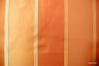Tkanina zasłonowa w pasy. Również na, poduszki, narzuty, dekoracje. Pomarańczowa, brzoskwiniowa.