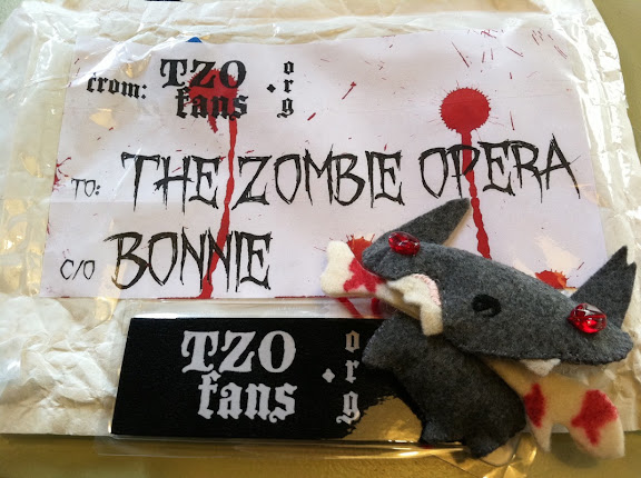 A mysterious package delivered to Bonnie (Artistic Director) from the TZOFans