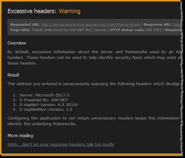 ASafaWeb finding excessive headers returned