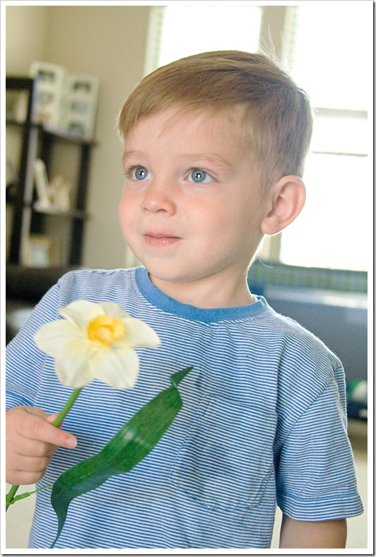 Wes with Flower