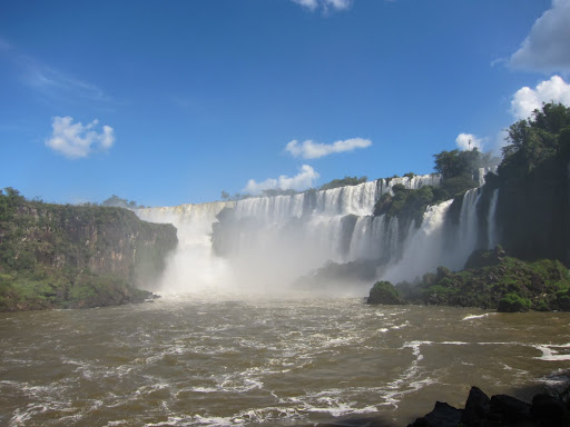 A section of the falls on the Argentinean side of Isla Grande San Martin.