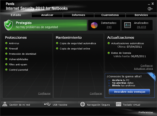 Descargar Panda Internet Security for Netbooks 2011 gratis