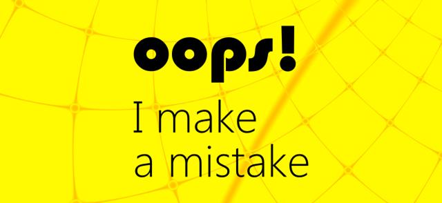 oops i make a mistake