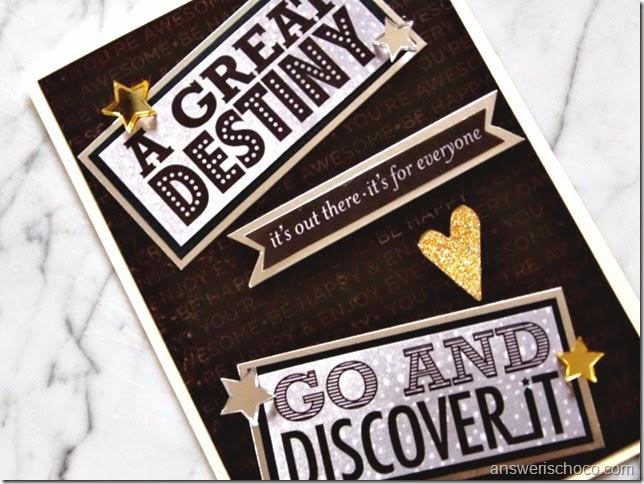 DCWV Decor Noir Great Destiny