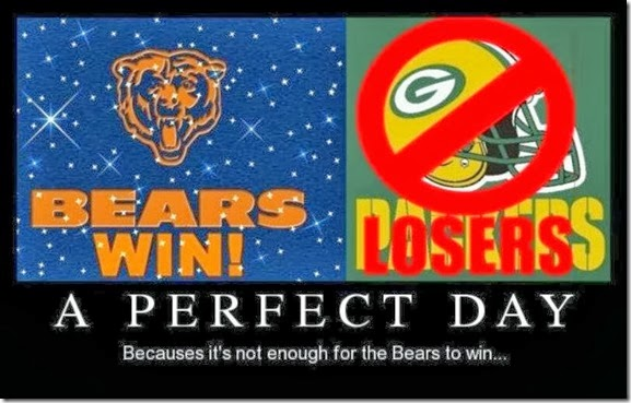 Bears Win - Packers Lose - A Perfect Day