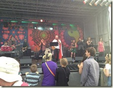 Miriam singing at Chagstock