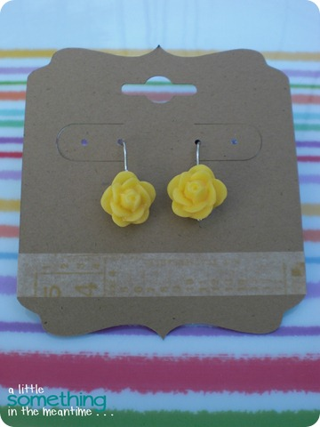 Rose Earrings Plate WM