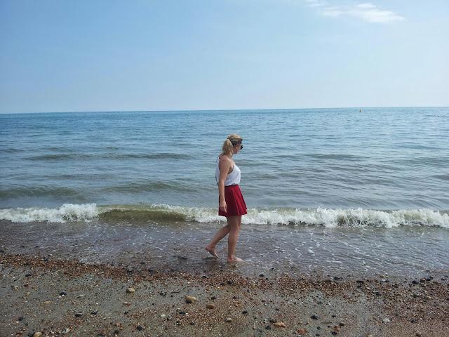 Girl in the sea Brighton Hove