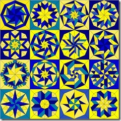 kaleidoscope blue yellow