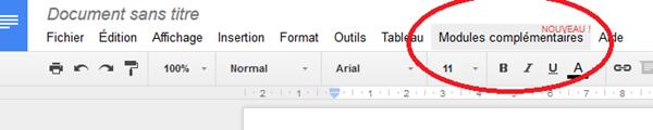 Des addons pour Google Drive