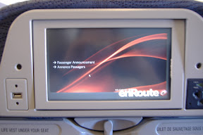 My inflight entertainment console