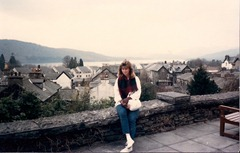 Julie at Windemere, England, 1986