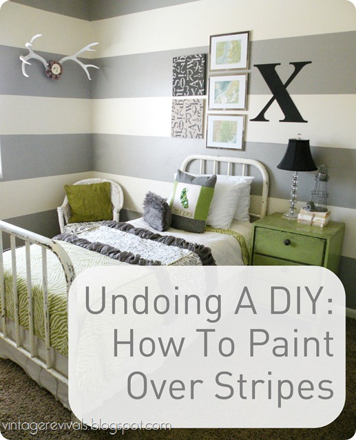 How To Paint Over Stripes