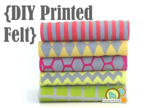 How to Make Your Own Printed Felt - American Felt and Craft