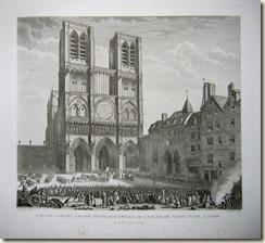 Favras faisant amende Honorable devant Notre Dame de Paris