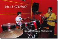 Violino Ridho Putra Belajar Drum di JM 83 Studio 3