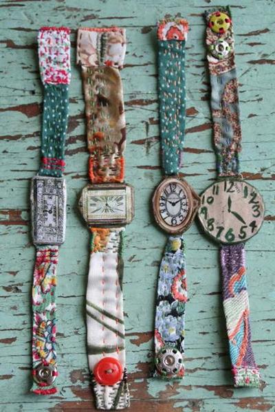 pulseiras de relógio de tecido