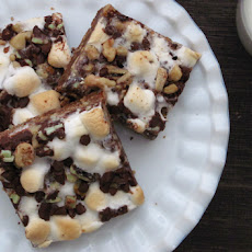 Mint Chocolate Chip Rocky Road Bars