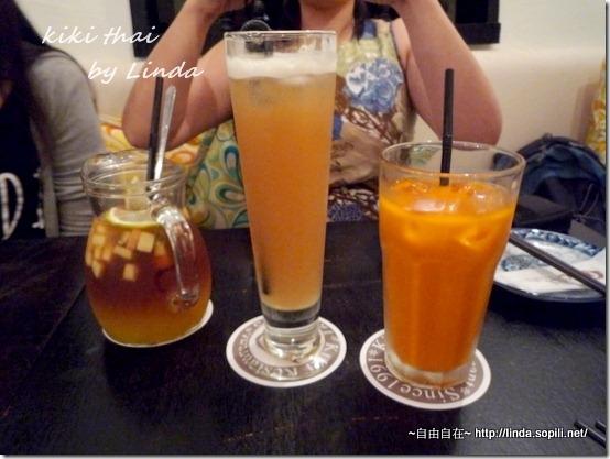 水果茶130/泰式奶茶80/羅望子冰茶100 (羅望子味道很清爽好喝,但有點類似楊桃汁的味道)