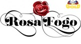 Logotipo da novela Rosa Fogo