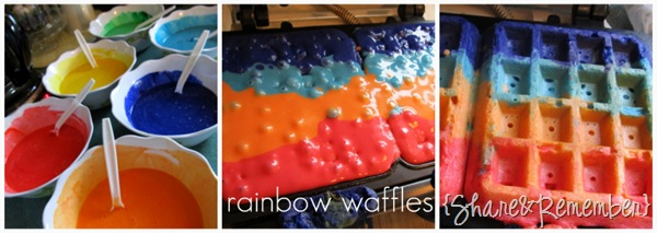 rainbow waffles for kids rainbow theme in preschool