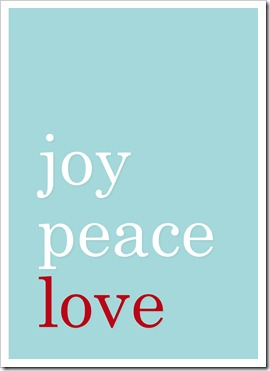Just Because 13 - joy peace love - blue - Sprik Space