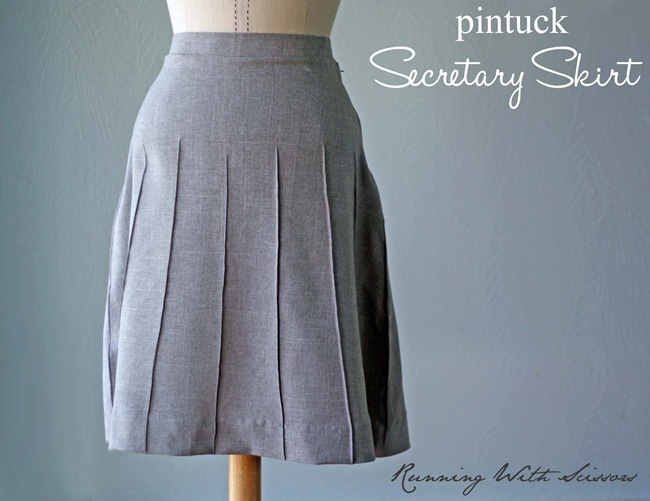 Secretary Skirt Tutorial via Running With Scissors