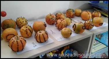 Christmas Orange and Clove Pomanders - a great Christmas craft for kids - featured on Raki's Rad Resources.