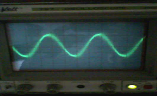 OUTPUT WAVEFORM OF INVERSION CIRCUIT WITH LOAD 200 OHMS
