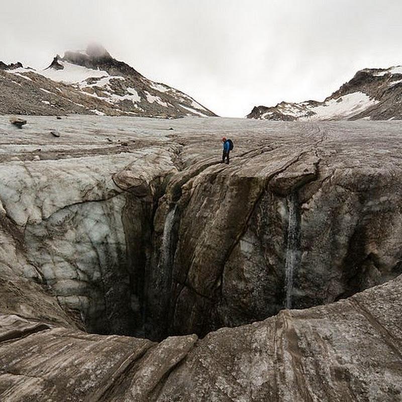 Moulins on Glaciers