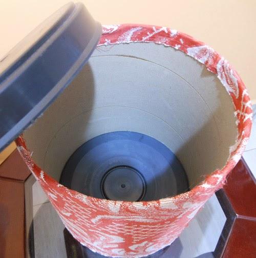 DIY decoração - como reaproveitar balde de massa acrílica para organizar