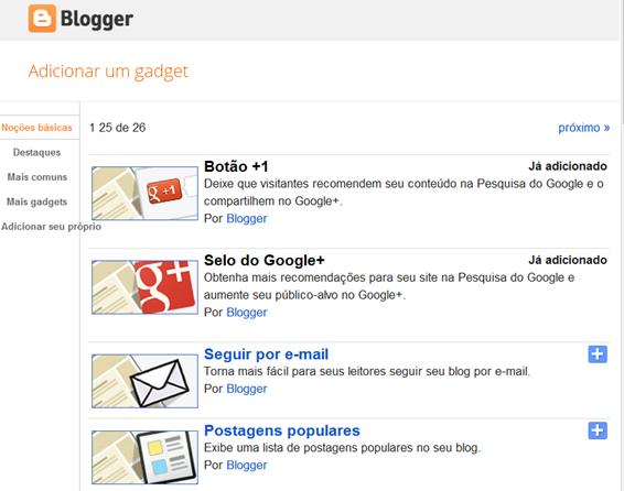 Google+, botão goole+, selo google+