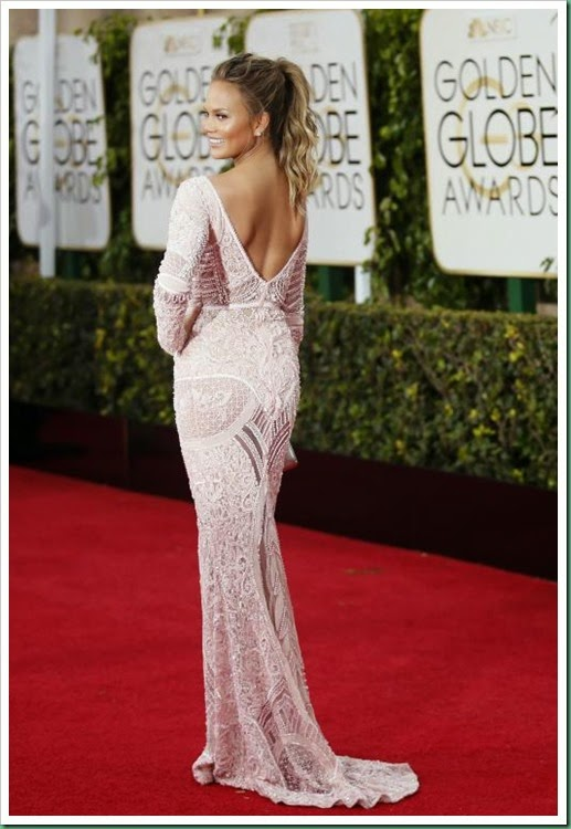 chrissy teigen in Zuhair Murad gown