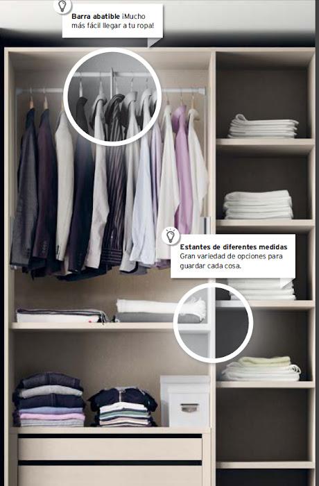 Distribuir el interior del armario - Organizar armarios empotrados ...