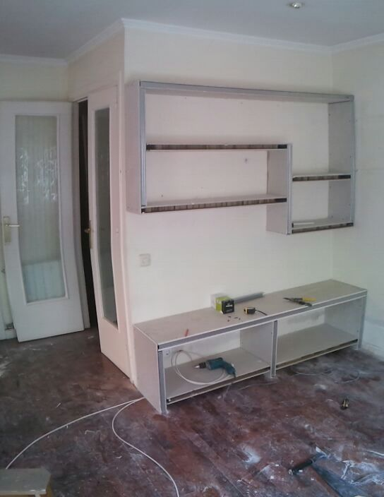 Pladur barcelona mueble para televisi n - Mueble de pladur ...