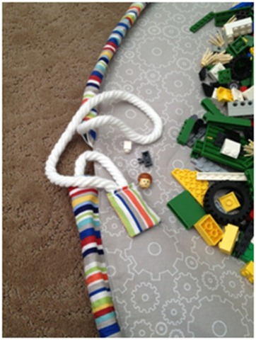 drawstring Lego play mat tutorial!