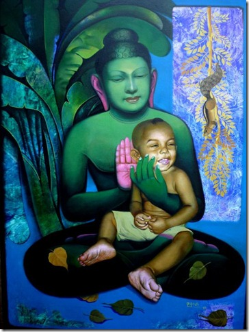 Painting Of Goutam Budhha