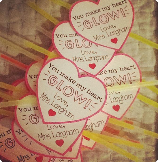 Glow Stick Valentines