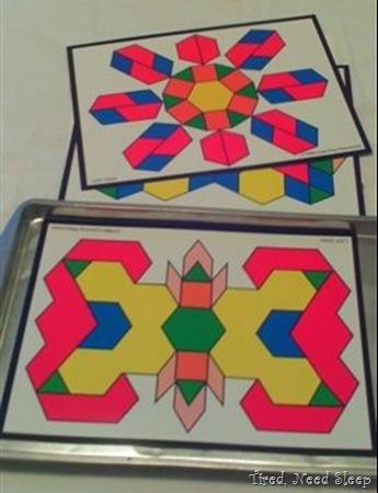 more symmetrical patterns