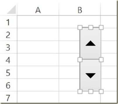 Form Controls in Excel - Insert Spin Button