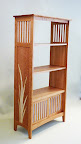 An organic flair to a traditional Arts and Craft bookcase