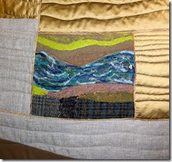 New River Piece in progress, by Sue Reno