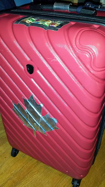 Image of packed luggage.