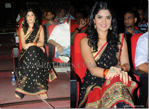 Deeksha_Seth_Black_Saree