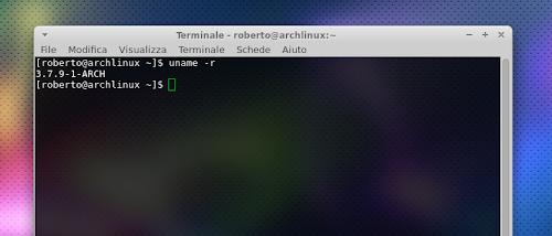 Linux 3.7.9 su Arch Linux